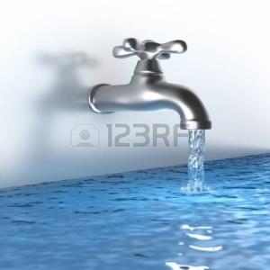 11533613-chrome-toccare-con-un-flusso-d-acqua